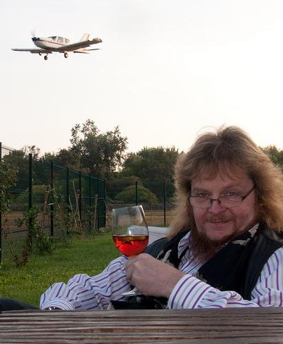 Flugplatz-Idyll mit Lucas