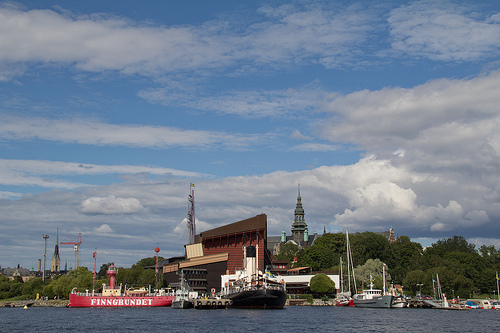 Blick zurück (aufs Vasamuseum)